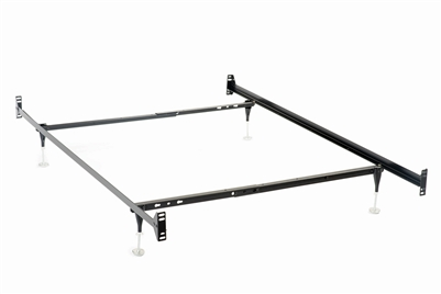 Black Metal Bed Frame With Casters