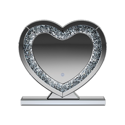 Silver & Black LED Wall Mirror