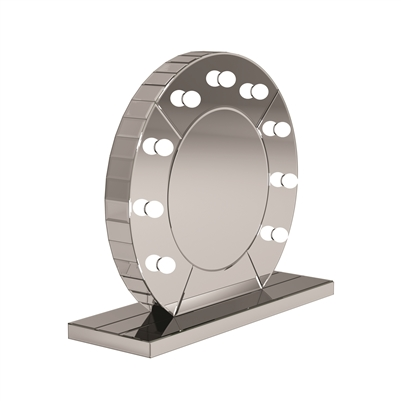 Silver LED Table Mirror