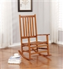 Nancy Traditional Country Style Warm Brown Rocking Chair