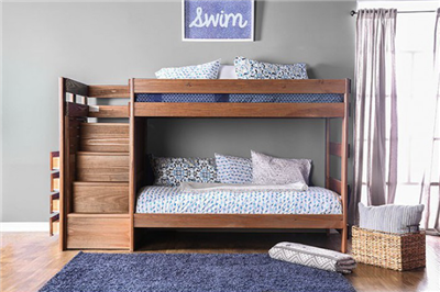 Ampelios Twin over Twin Bunk Bed with Stairway Chest