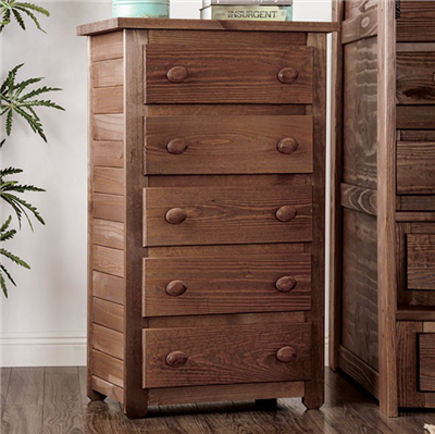 Arlette Rustic American Pine 5-Drawer Chest