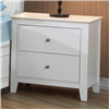 Snow Bright White Cottage Style 2 Drawer Nightstand