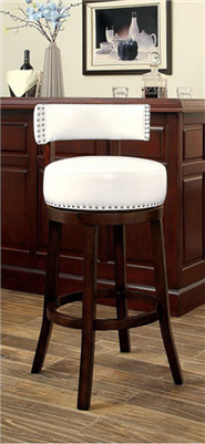 Leatherette Swivel Bar Stool by Furniture of America CM-BR6251