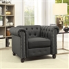 Traditional Dark Grey Chesterfield Chair
