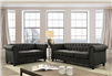 Traditional Dark Grey Chesterfield Sofa & Loveseat Set