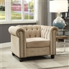 Traditional Ivory Chesterfield Chair