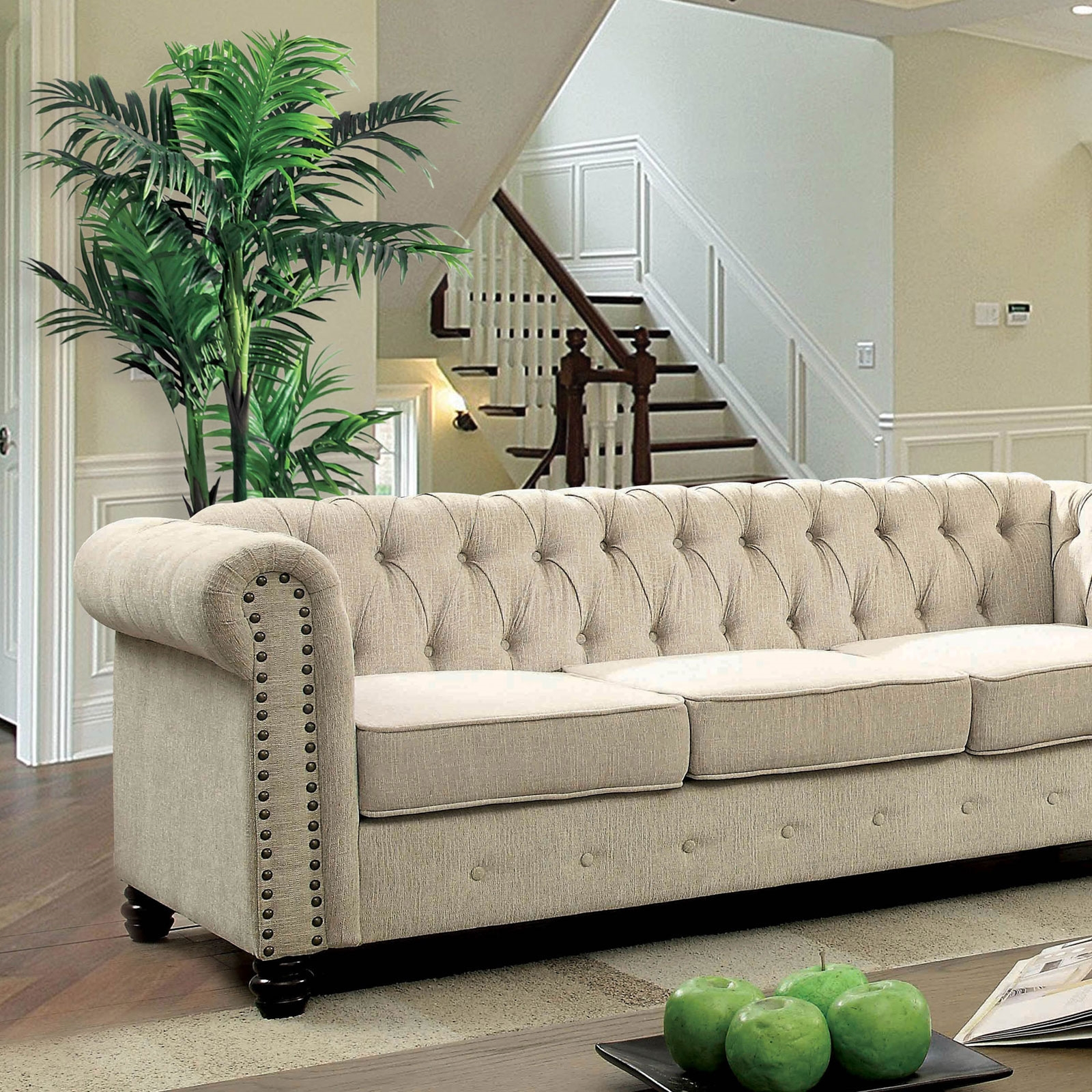 Winifred Ivory Chesterfield Sofa