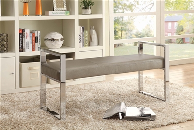 Champagne Chrome bench
