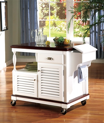 Solid Birch Kitchen Cart