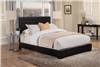 Modern Low Profile Black Leatherette King Size Bed