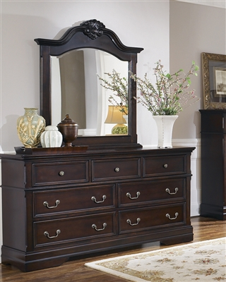 Carlsbad European Traditional 7-Drawer Cappuccino Finish Dresser