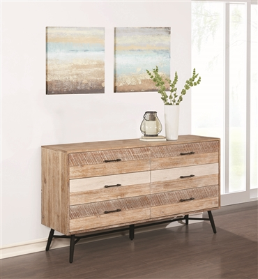 Vilma Rough Sawn Varied Natural Finish Dresser