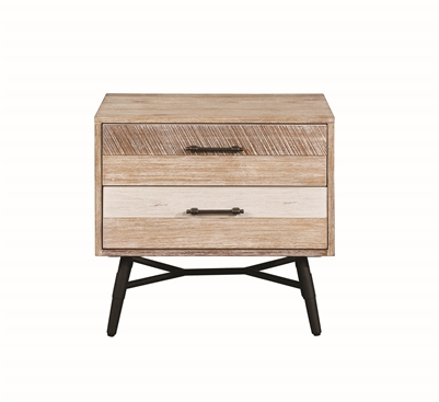 Vilma Rough Sawn Varied Natural Finish Nightstand