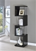 Modern High-Gloss Black Finish Bookcase