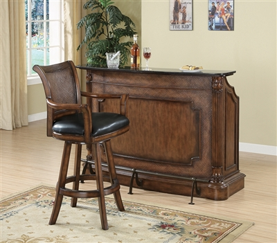 Russian River Valley Bar Unit With Black Marble Top