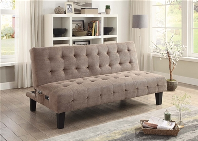 Textured Chenille Fabric Sofa Bed 500295