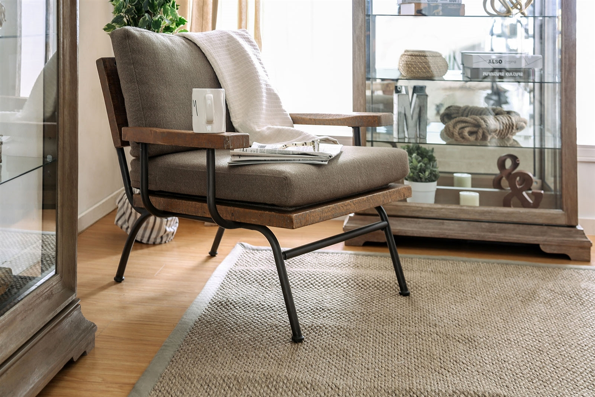 Peachy Santiago Modern Rustic Accent Chair Gmtry Best Dining Table And Chair Ideas Images Gmtryco