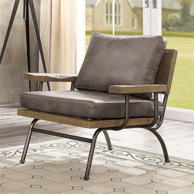 Santiago Accent Chair in Brown Finish - FOA CM-AC6077BR
