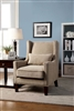 Tomar Ivory Flannelette Wingback Accent Chair