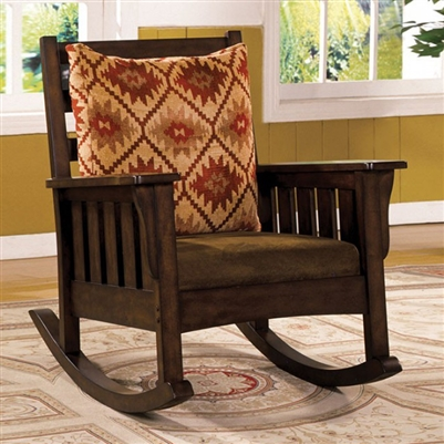 Morrisville Traditional Dark Oak Rocking Chair - FOA CM-AC6401