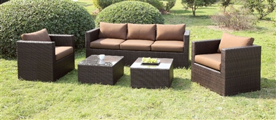 Olina 5 Piece Wicker Patio Set