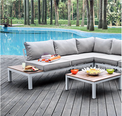 Winona Patio Sectional & Ottoman Set
