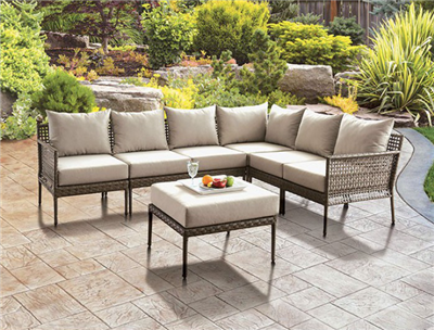 Aleisha Brown Wicker Patio Sectional