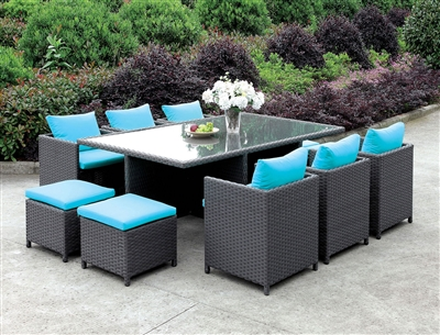 Ashanti 11 Piece Wicker Patio Dining Set