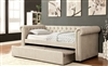 Leanna Tufted Upholstered Daybed