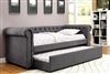Leanna Gray Upholstered Daybed With Trundle