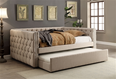 Suzanne Contemporary Tufted Chesterfield Style Twin Daybed