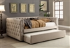 Suzanne Contemporary Tufted Chesterfield Style Full Daybed