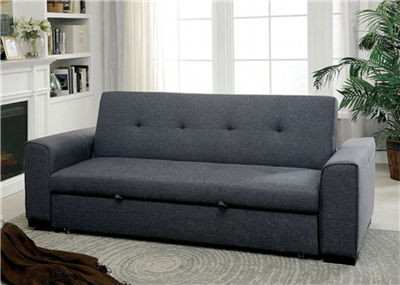 Reilly Transitional Button Tufted Sofa Bed in Grey