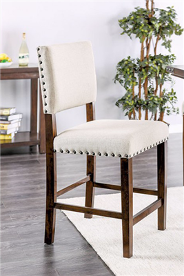 Counter Height Dining Chair in Ivory Color Linen