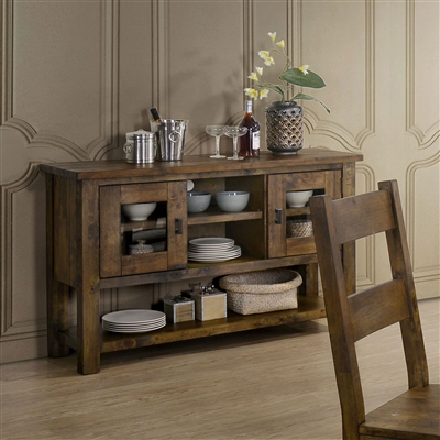 Kristen Rustic Oak Dining Server