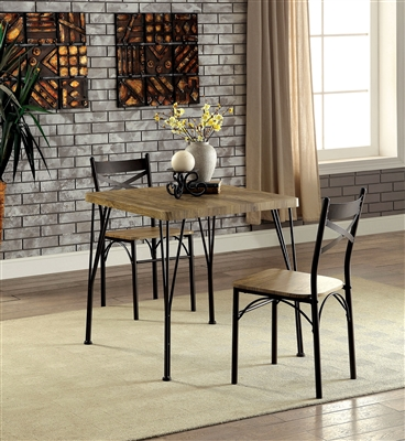 Industrial Style 3 Piece Dinette Set