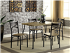 Industrial style 5 piece dining set