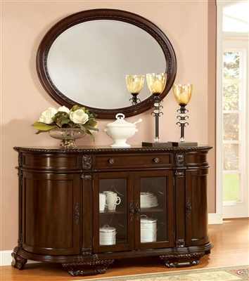 Bellagio Traditional Dining Server in Brown Cherry