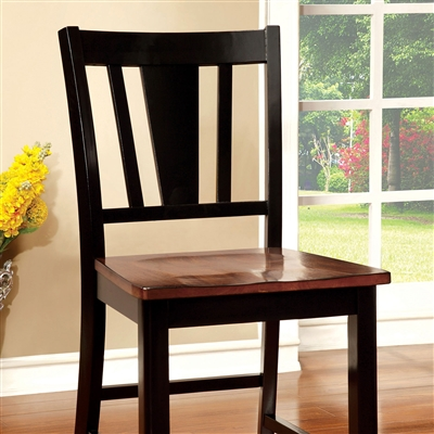 Dover II Vintage Black/Cherry Counter Hieght Chair (Set of 2)