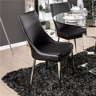Izzy Modern Black Dining Chair (Set of 2)