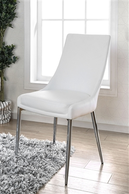 Izzy Modern White Dining Chair (Set of 2)