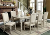 Antique White Finish Formal Dining Set