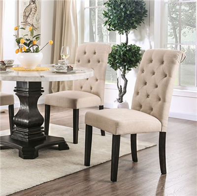 Genuine White Marble Top Pedestal Dining Set