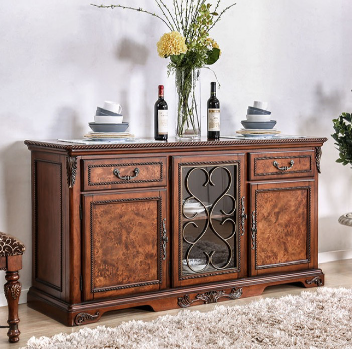 Lucie Traditional Brown Cherry Buffet