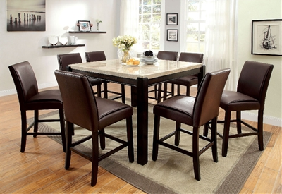 Real Marble Counter Height Dining Set