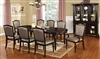 Dark Walnut Finish Formal Dining Set