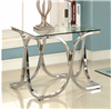 Modern Square Glass & Chrome End Table