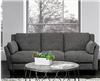 Tufted Grey Upholstered Sofa