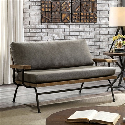 Santiago Loveseat in Brown Finish - FOA CM6077-LV